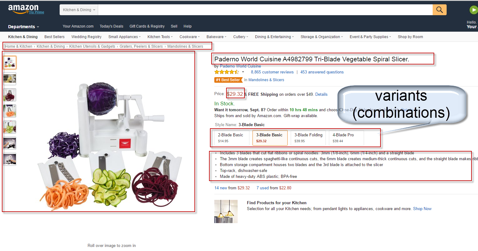 Amazon Scraping  specification 3
