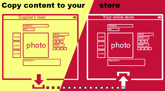 copy & import content to your store
