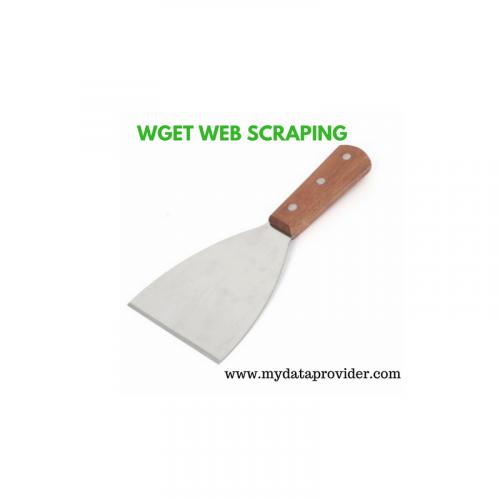 Wget web scraping