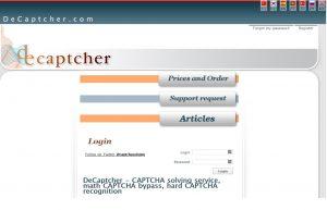 De-Captcher captcha
